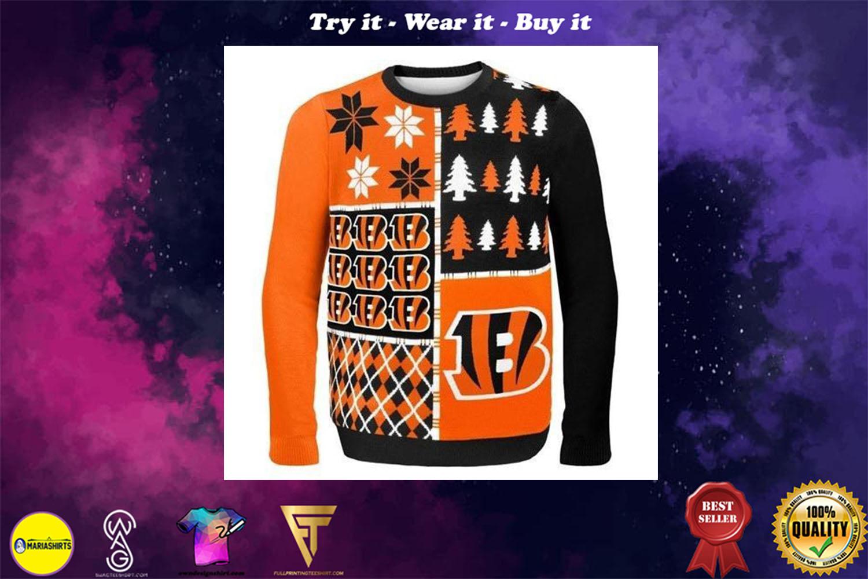 cincinnati bengals busy block ugly christmas sweater