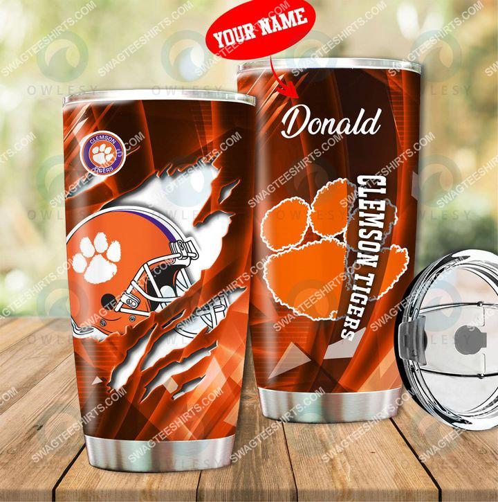 custom name clemson tigers football full printing tumbler 1(1)
