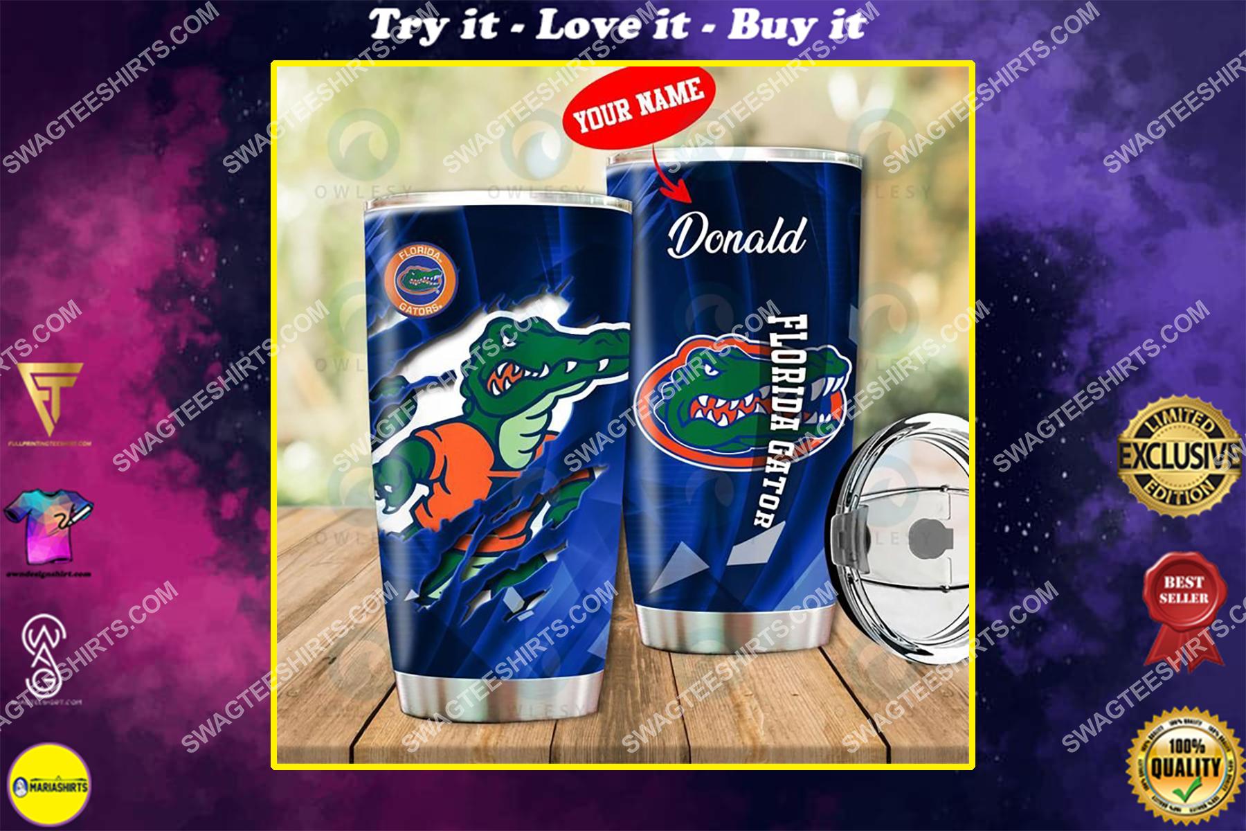 custom name florida gators football full printing tumbler