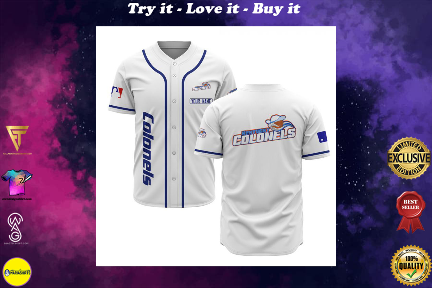 custom name kentucky colonels baseball shirt