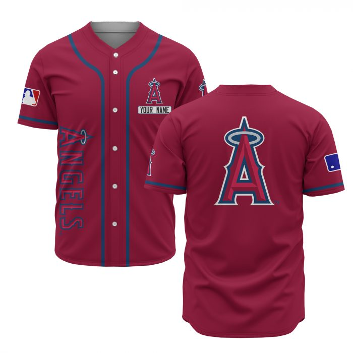 custom name los angeles angels baseball shirt 1