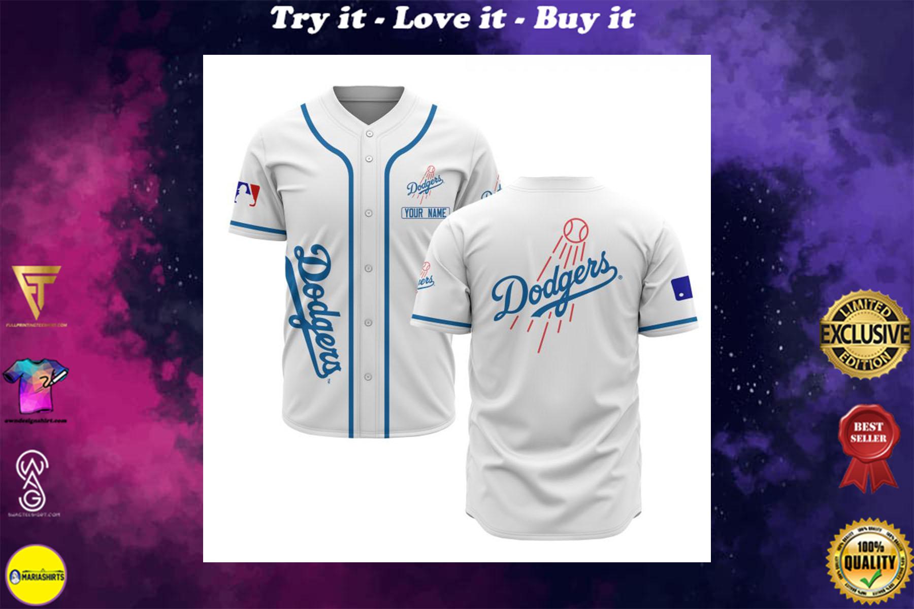custom name los angeles dodgers baseball shirt