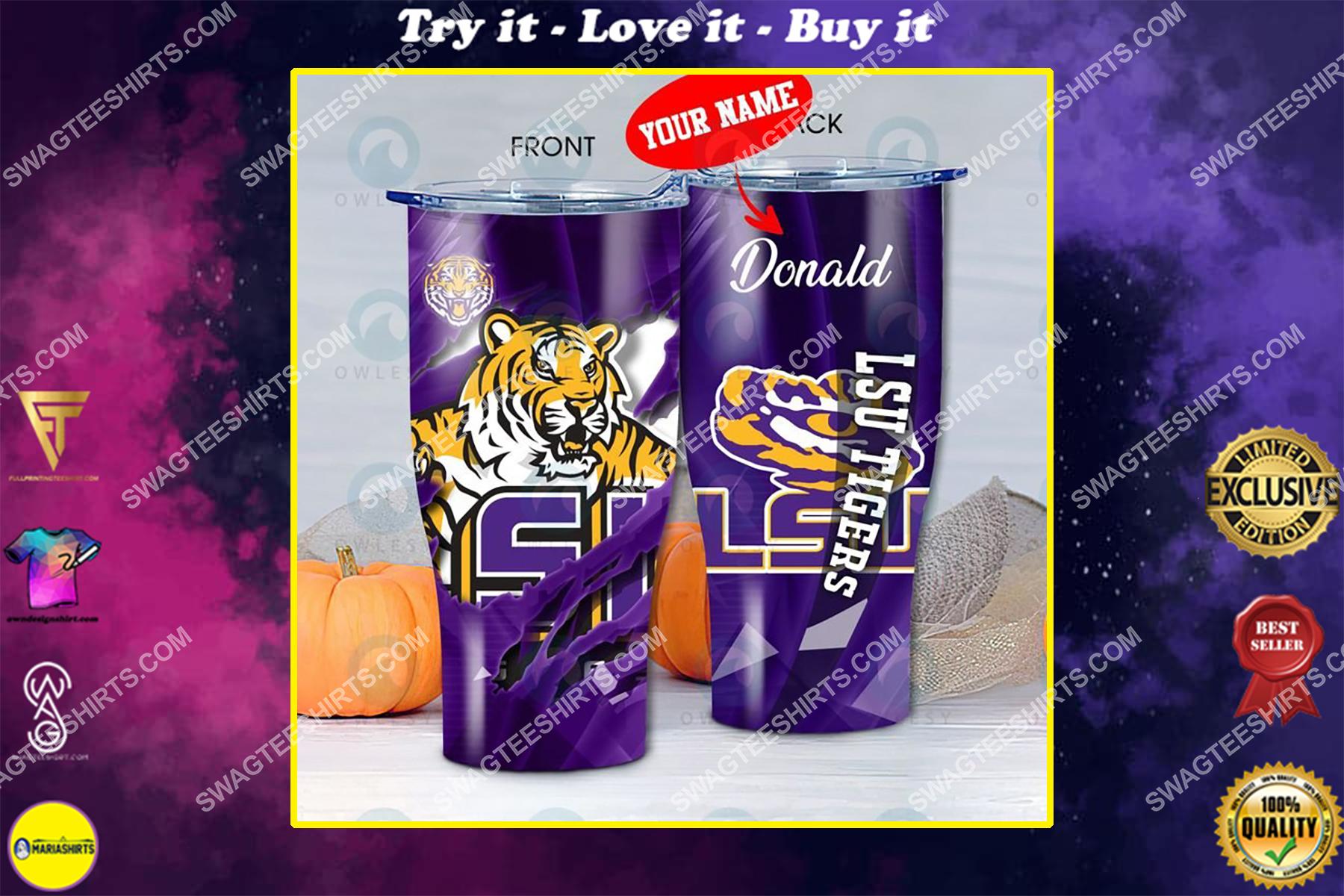 custom name lsu tigers football full printing tumbler