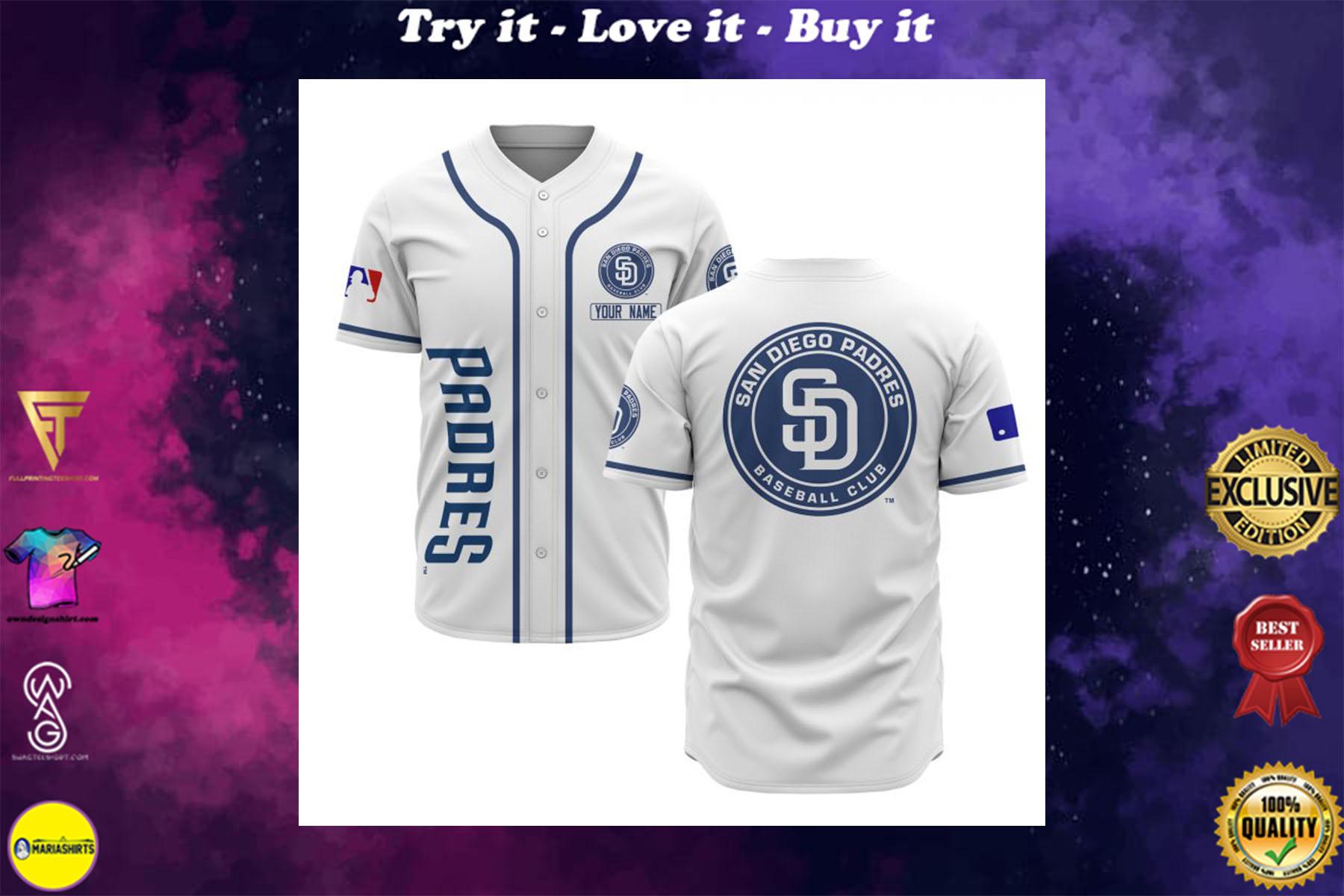 custom name san diego padres baseball shirt