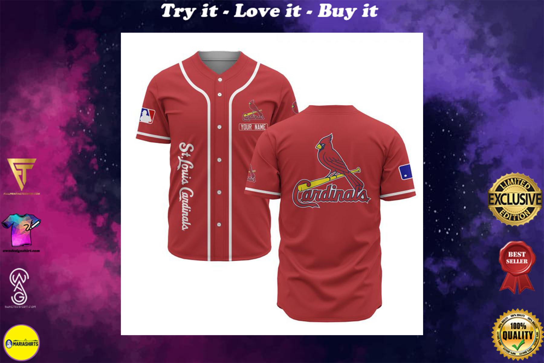 custom name st louis cardinals baseball shirt
