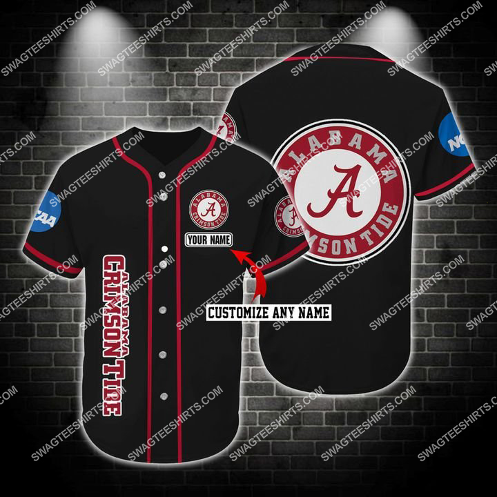 custom name the alabama crimson tide full printing baseball jersey 1(3) - Copy