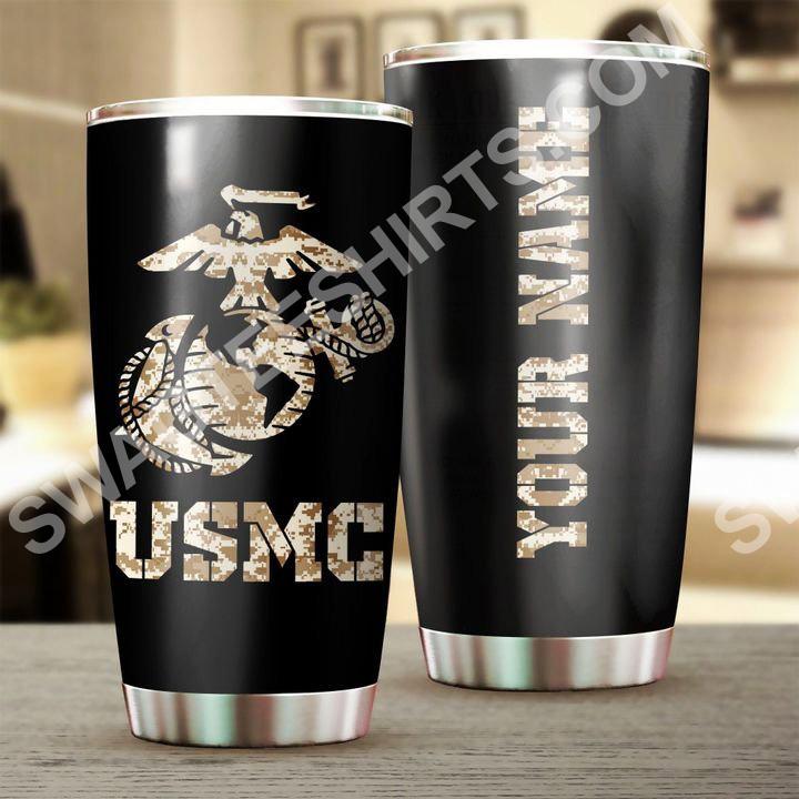 custom name usmc camo all over printed stainless steel tumbler 2(1)