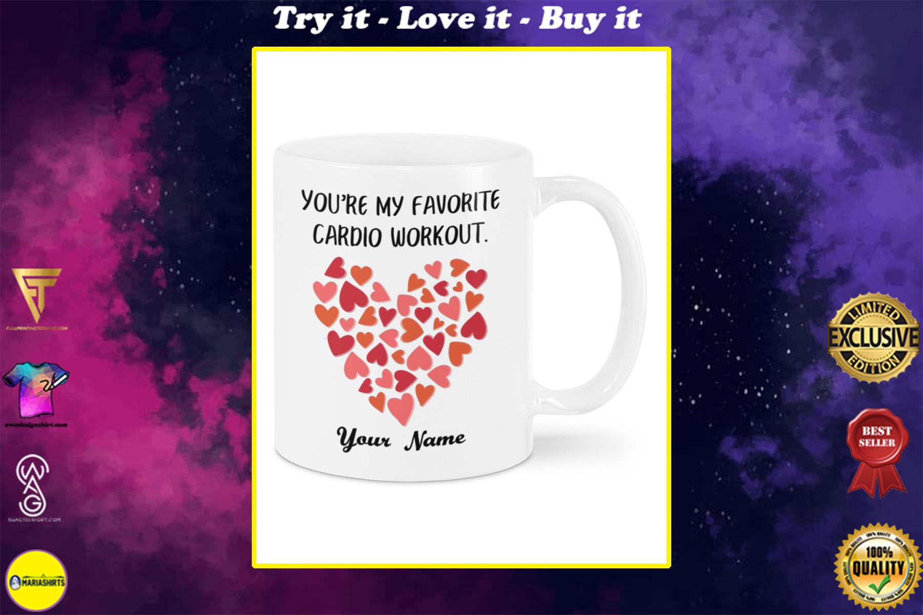custom name youre my favorite cardio workout mug