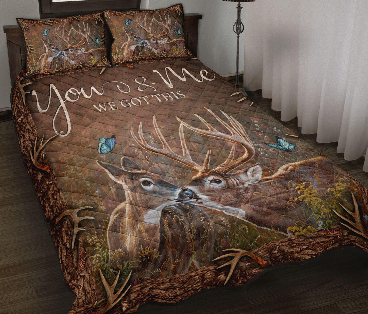 deer hunter you and me we got this full printing bedding set 2