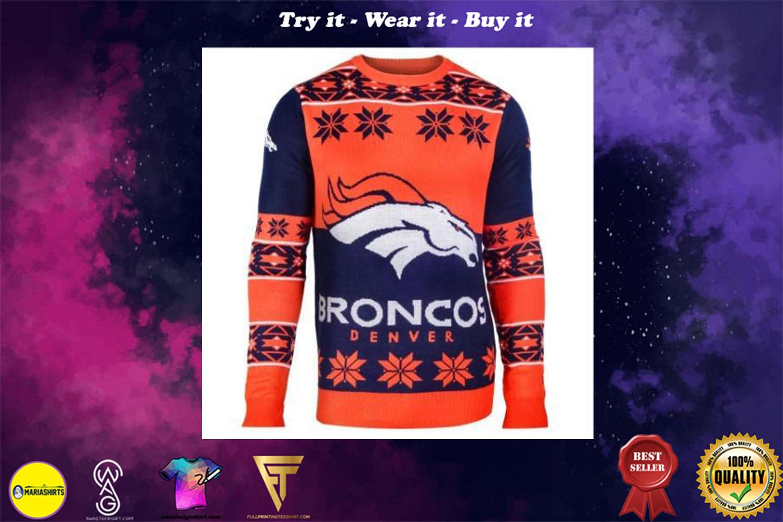 denver broncos national football league ugly christmas sweater