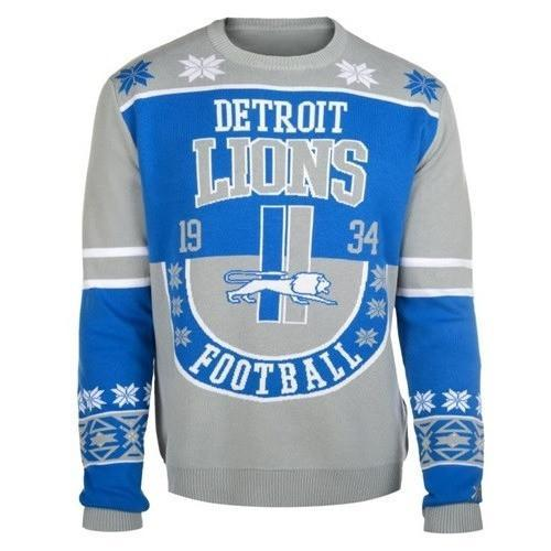 detroit lions football ugly christmas sweater 1