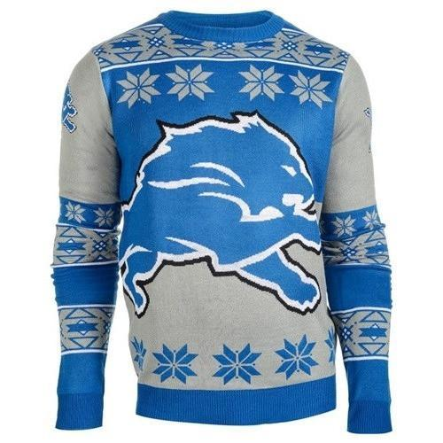 detroit lions national football league ugly christmas sweater 1
