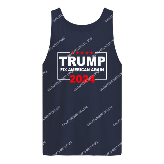 donald trump fix america again fight for democracy politics tank top 1