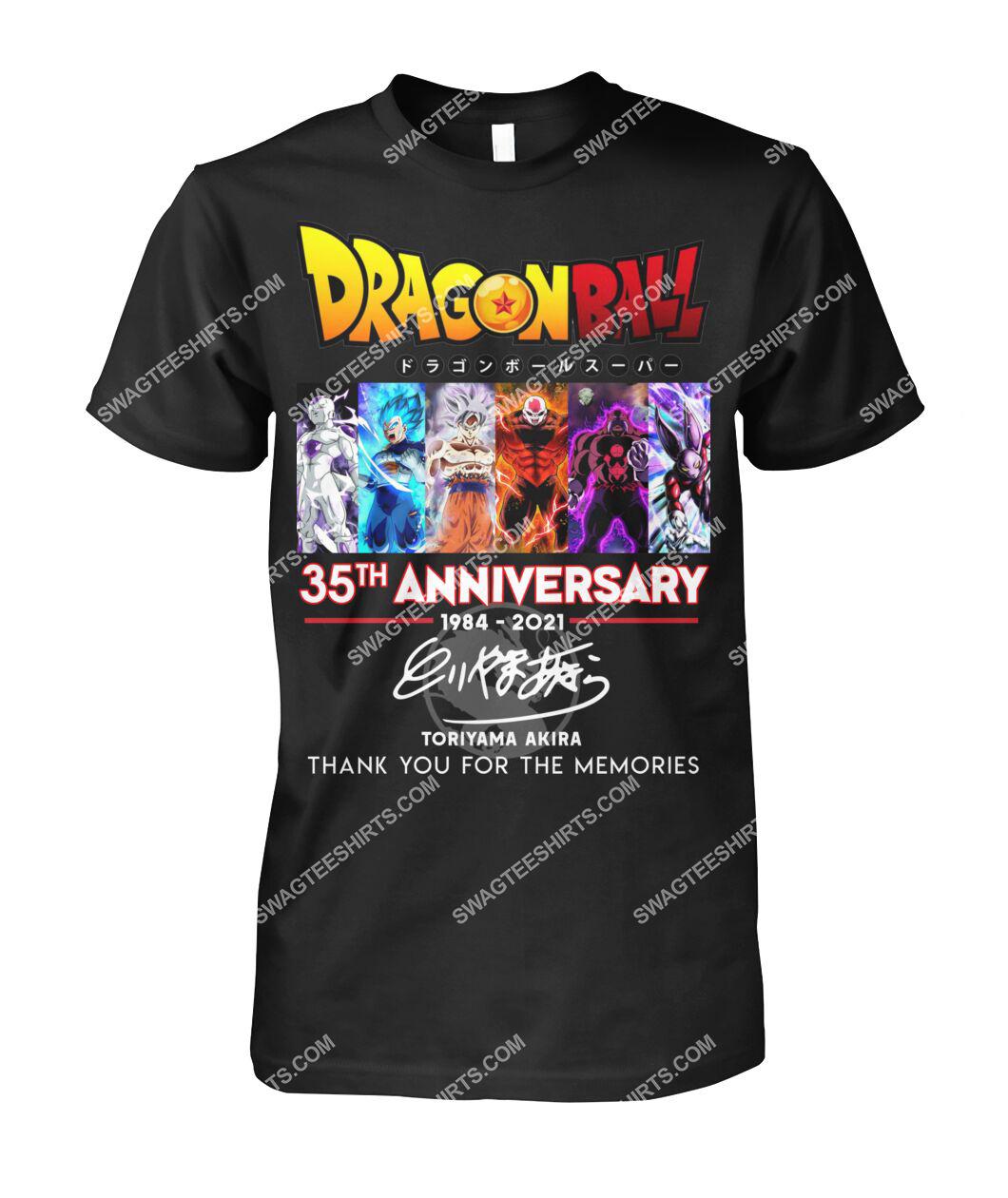 dragon ball z 35th anniversary thank you for memories signatures tshirt 1