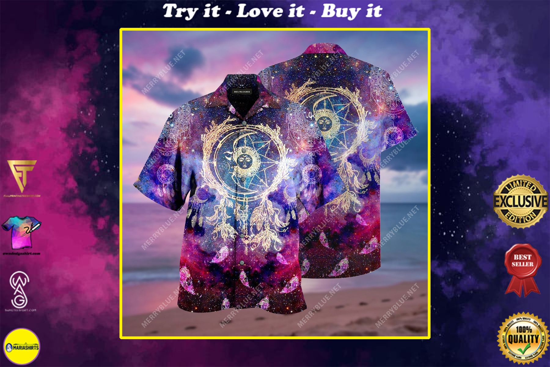 dreamcatcher colorful all over print hawaiian shirt