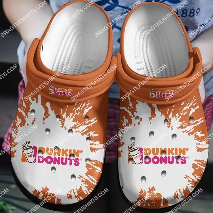 dunkin' donuts all over printed crocs crocband clog 2