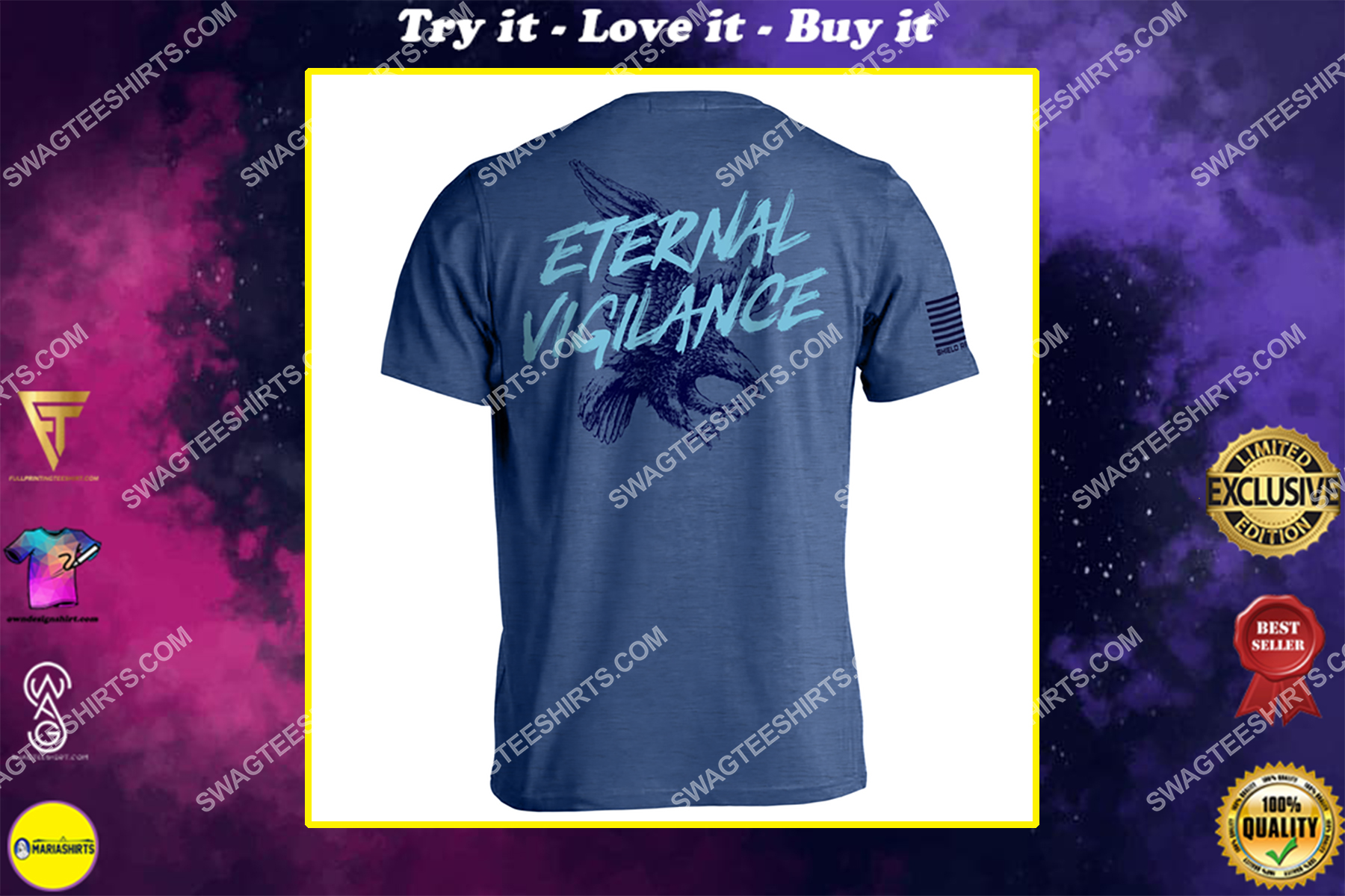 eternal vigilance is the price of liberty political shirt