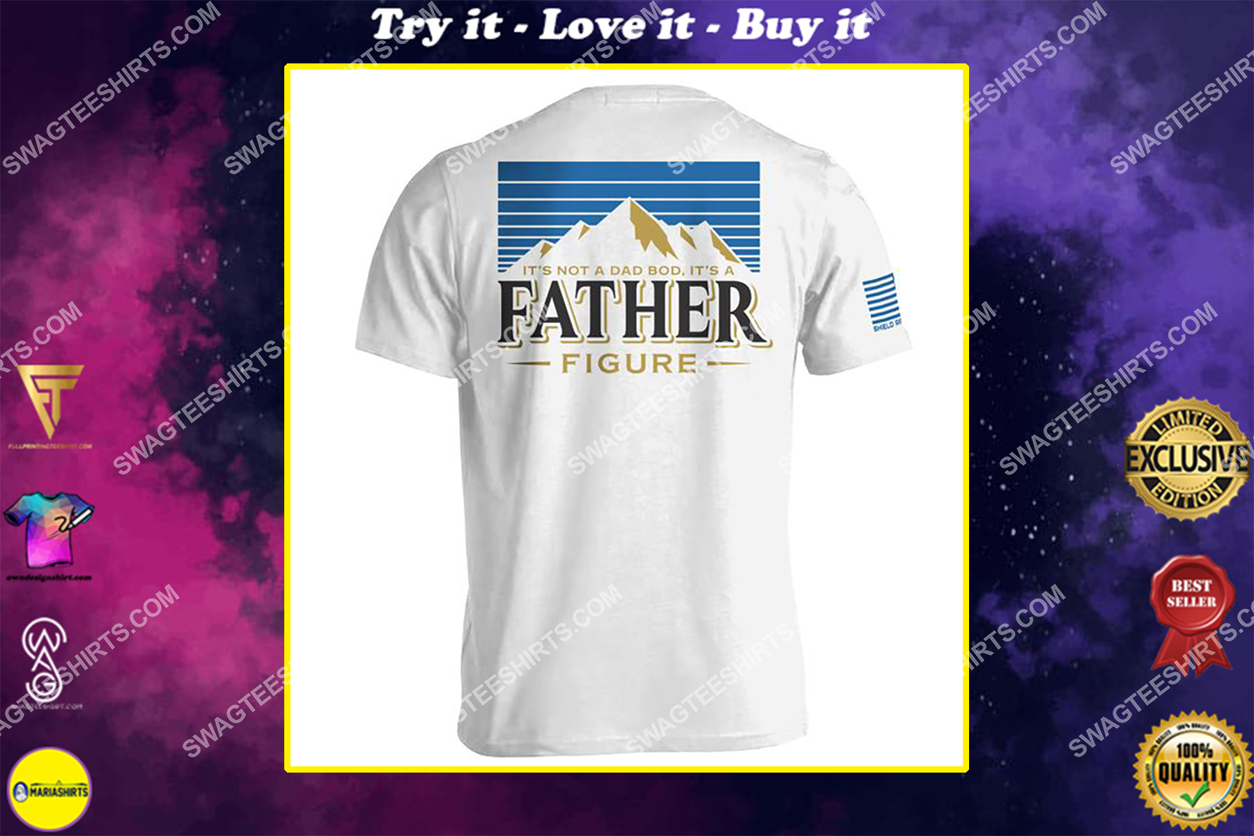 fathers day its not a dad bod its a father figure shirt