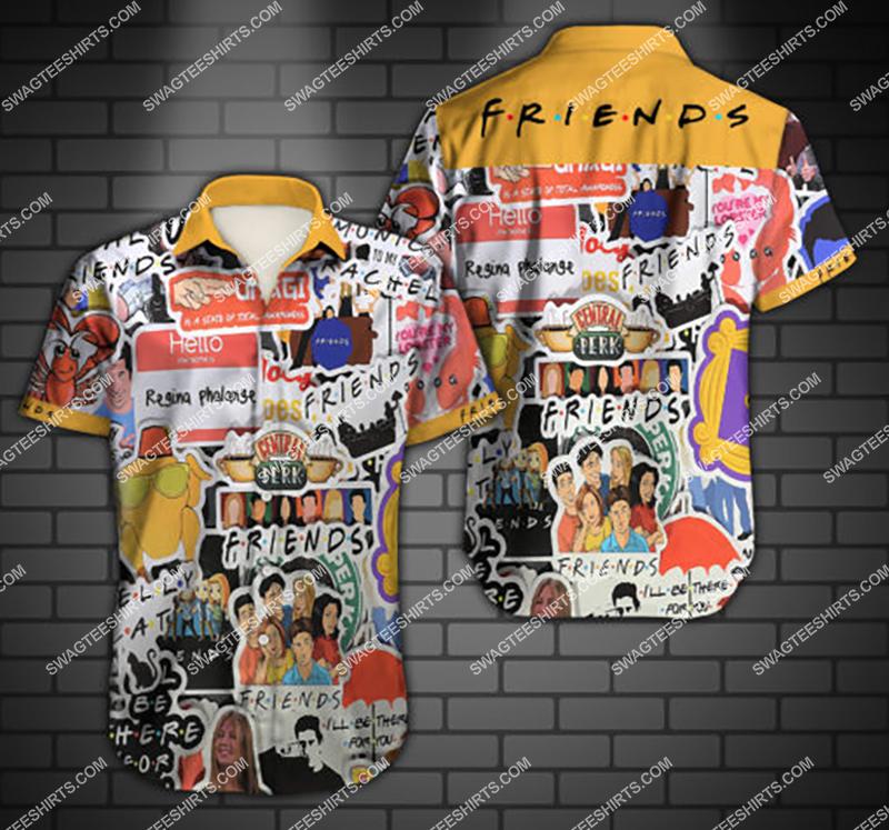 friends tv show all over print hawaiian shirt 2