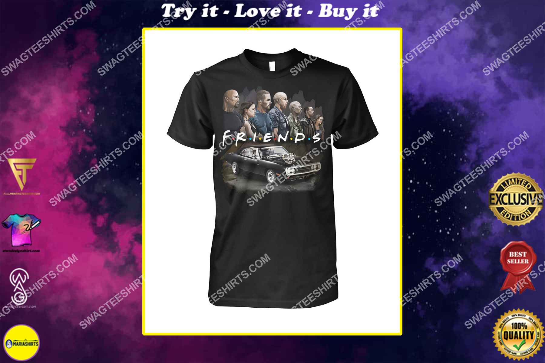 friends tv show fast and furious characters shirt