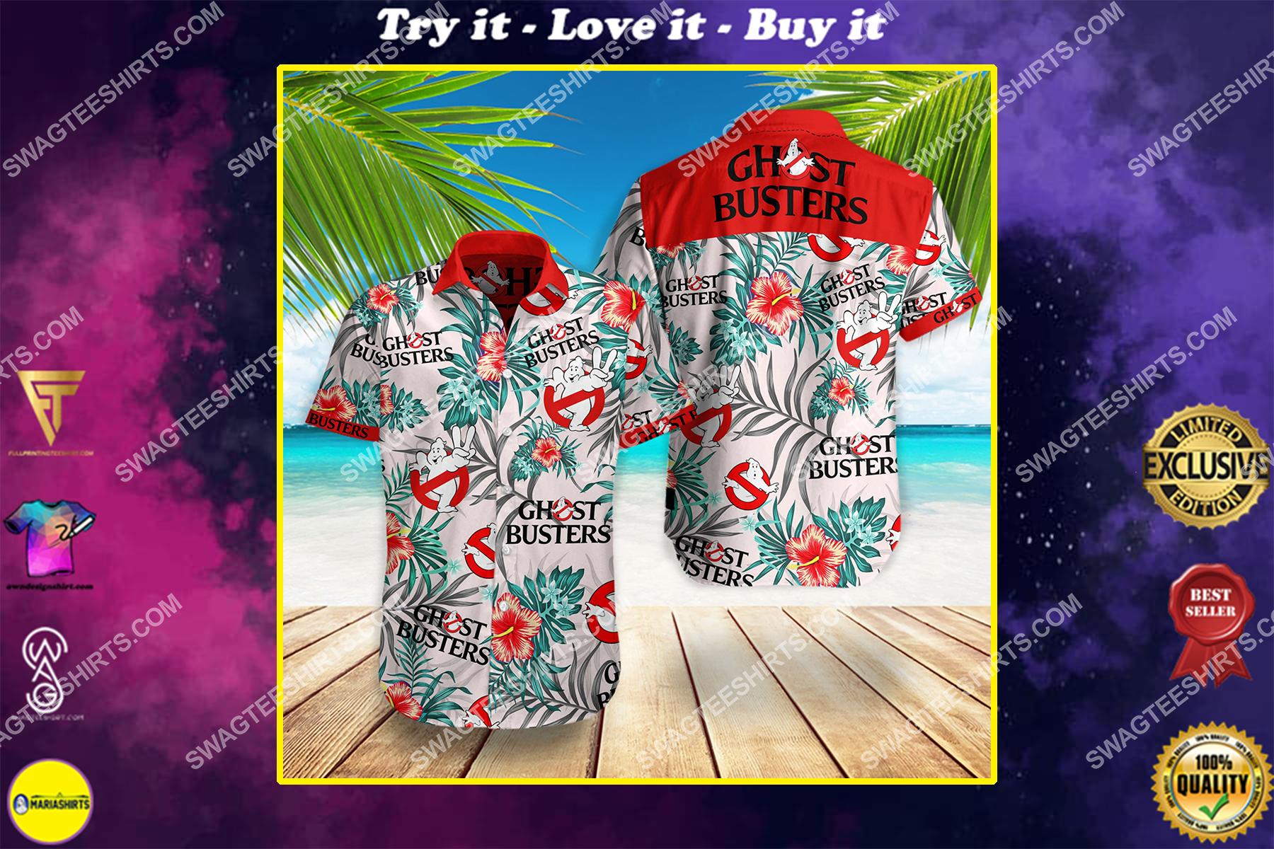 ghostbusters movie all over print hawaiian shirt