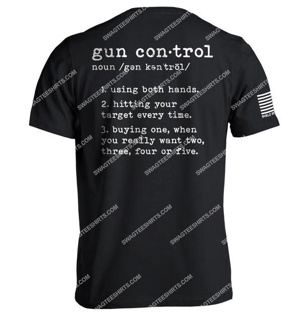 gun control definition political shirt 2