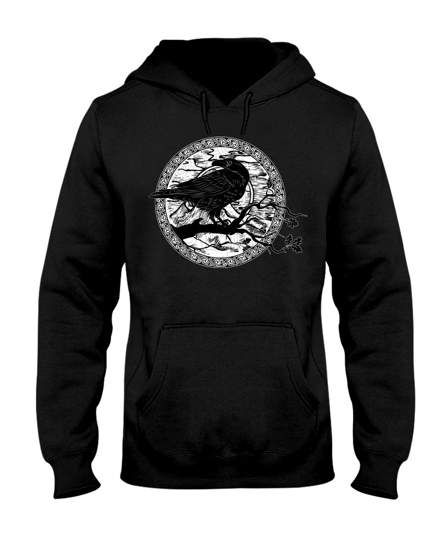 halloween evil raven viking hoodie