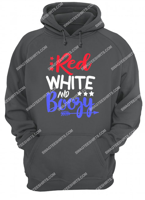 happy independence day red white and boozy hoodie 1