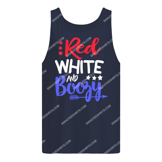 happy independence day red white and boozy tank top 1