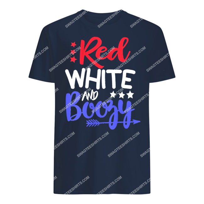 happy independence day red white and boozy tshirt 1