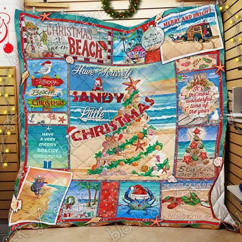 have yourself a sandy little christmas full printing quilt 2