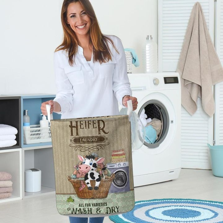 heifer wash and dry all over printed laundry basket 5
