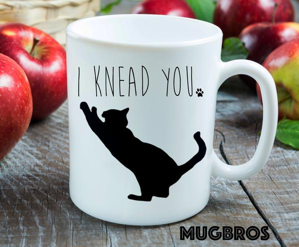 i knead you cat lover coffee cup 2