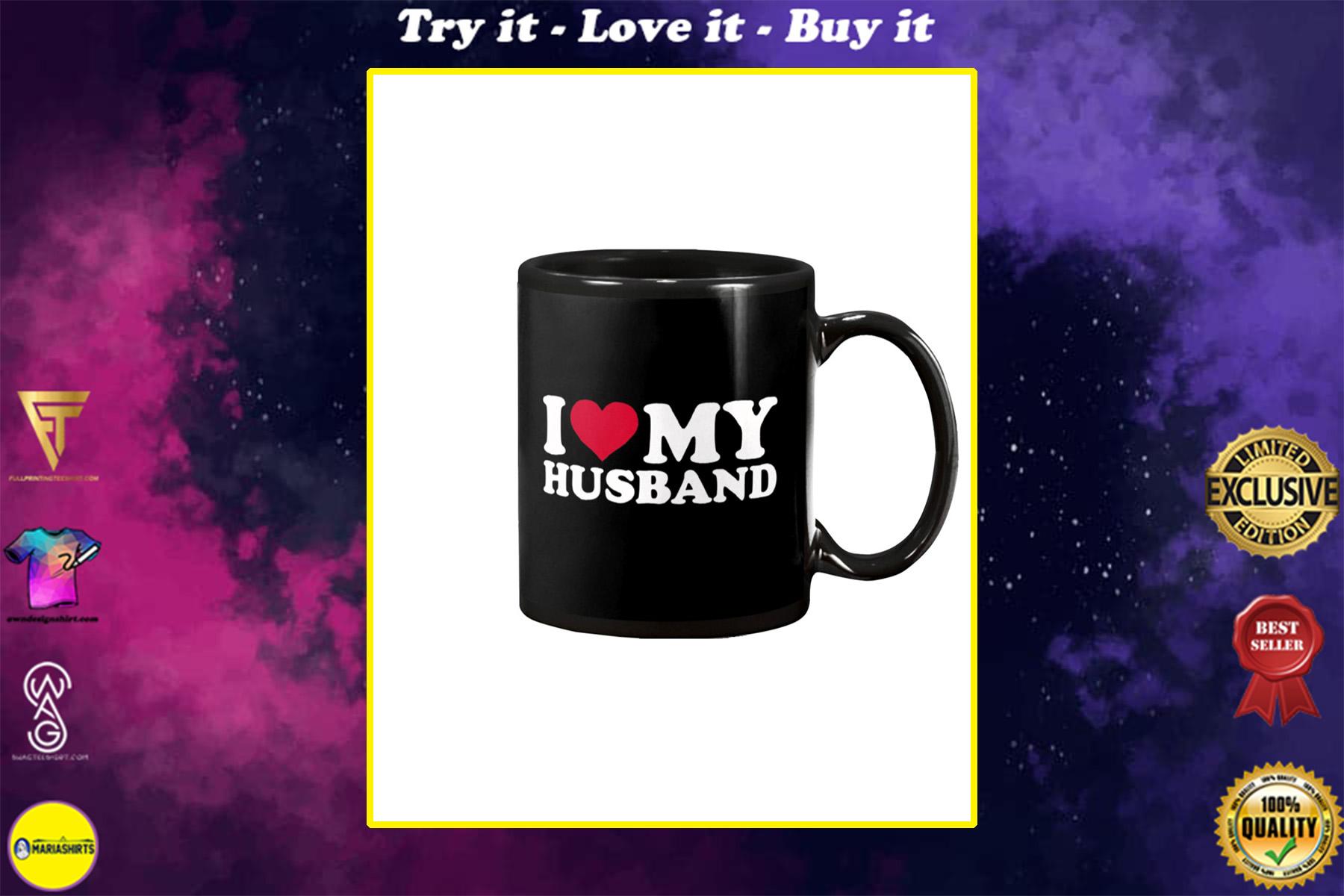 i love my husband happy valentine's day mug