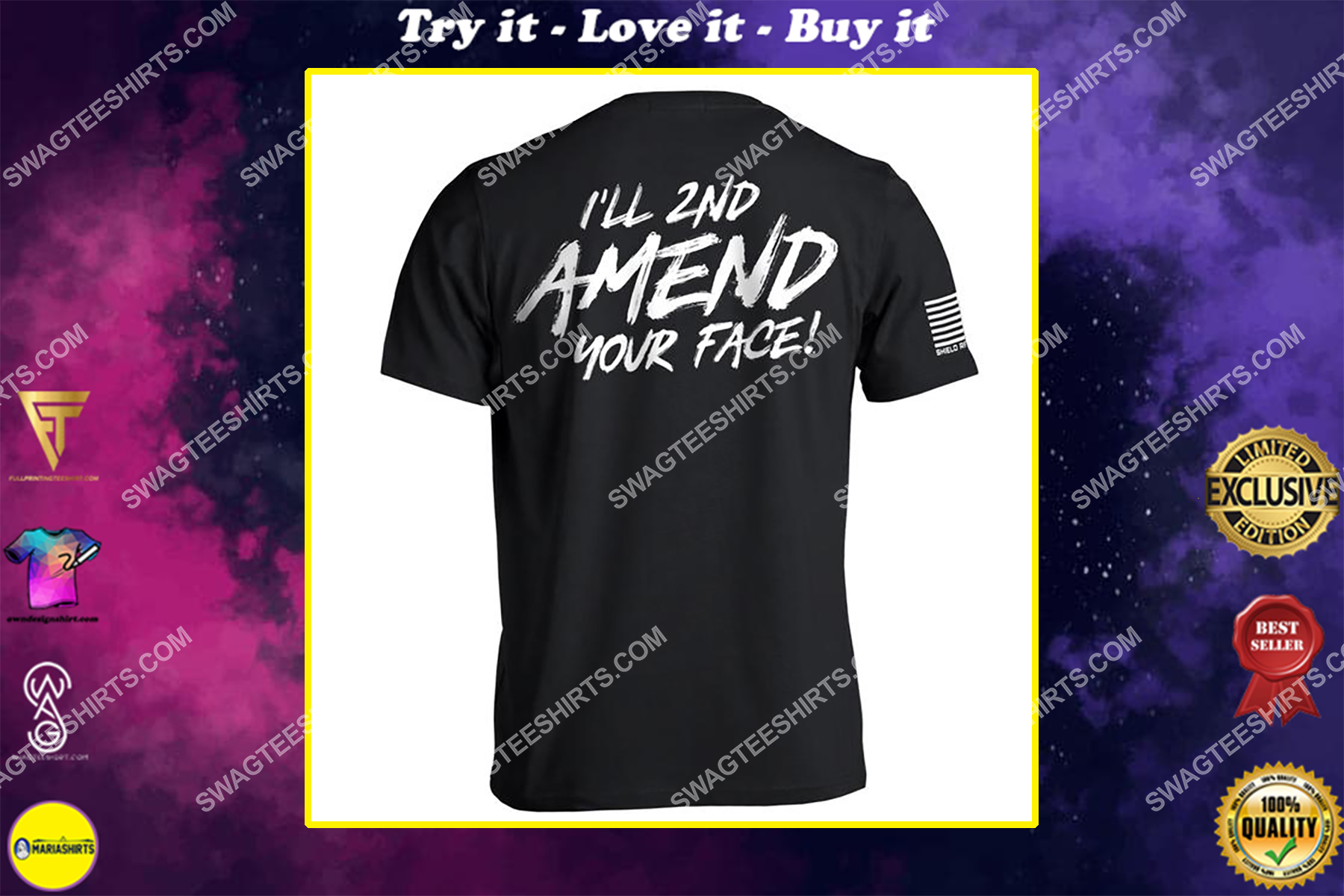 i'll 2nd amend your face political full print shirt