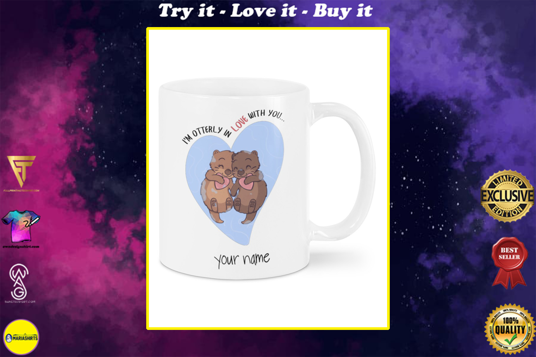 i'm otterly in love with you custom your name mug