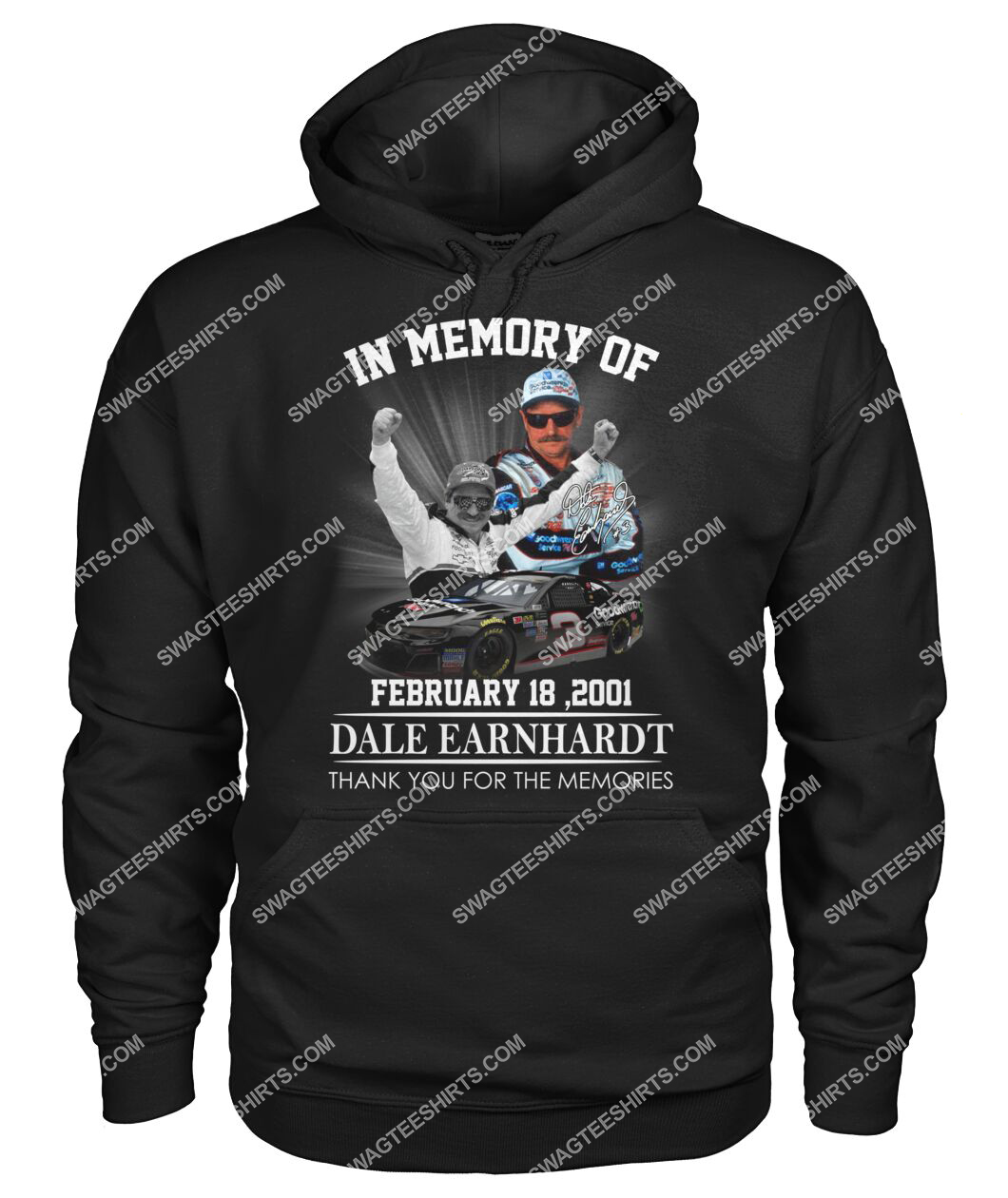 in memory of dale earnhardt thank you for memories hoodie 1
