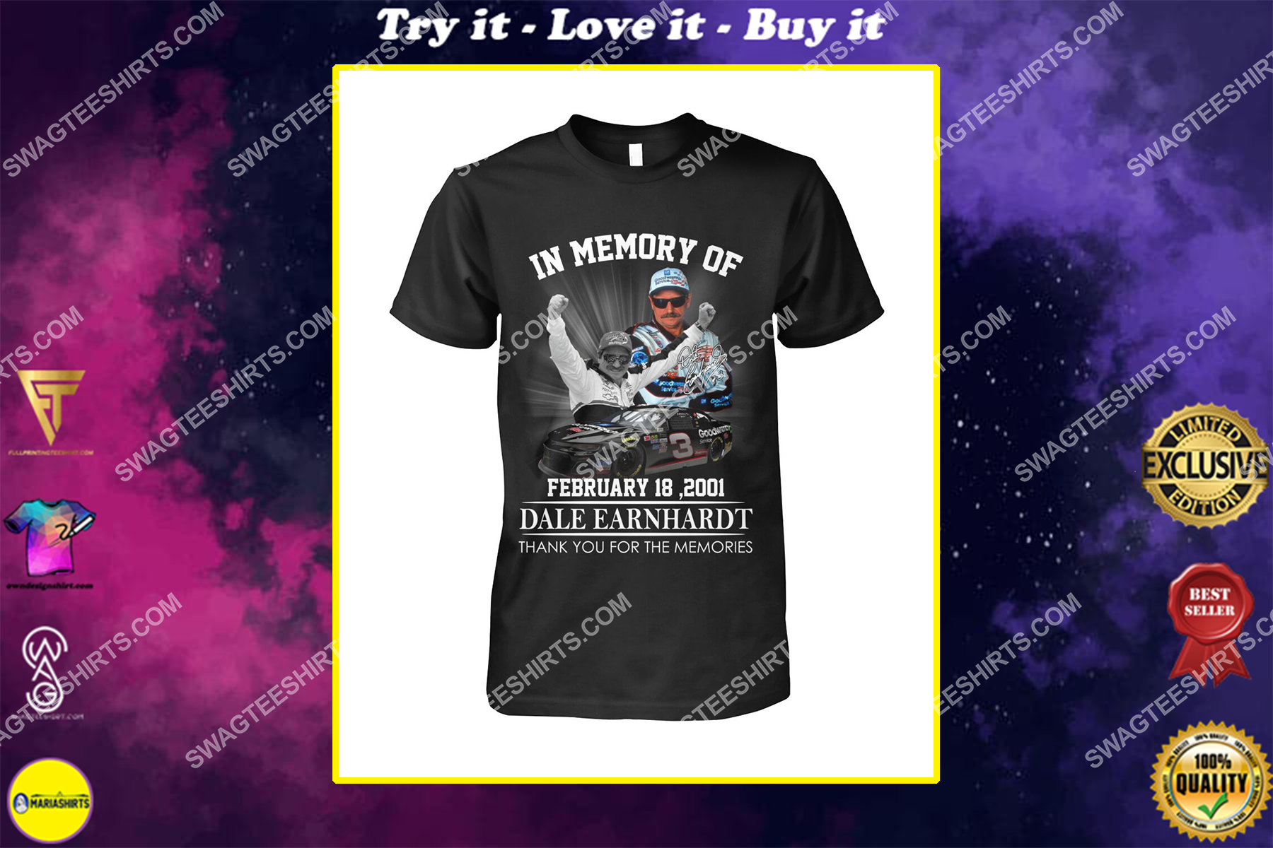in memory of dale earnhardt thank you for memories shirt