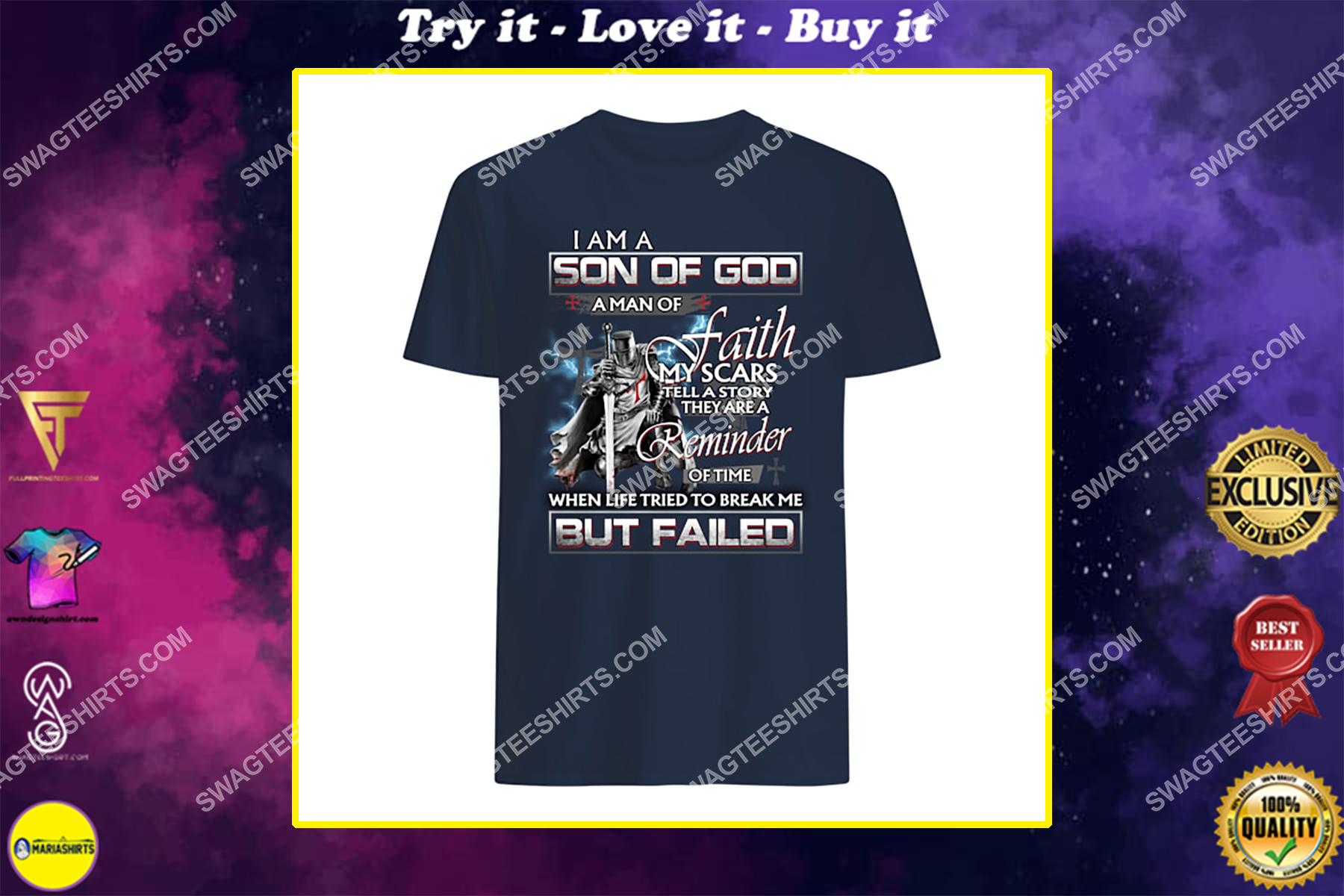 knight templar i am a son of God a man of faith my scars tell a story they are a reminder shirt