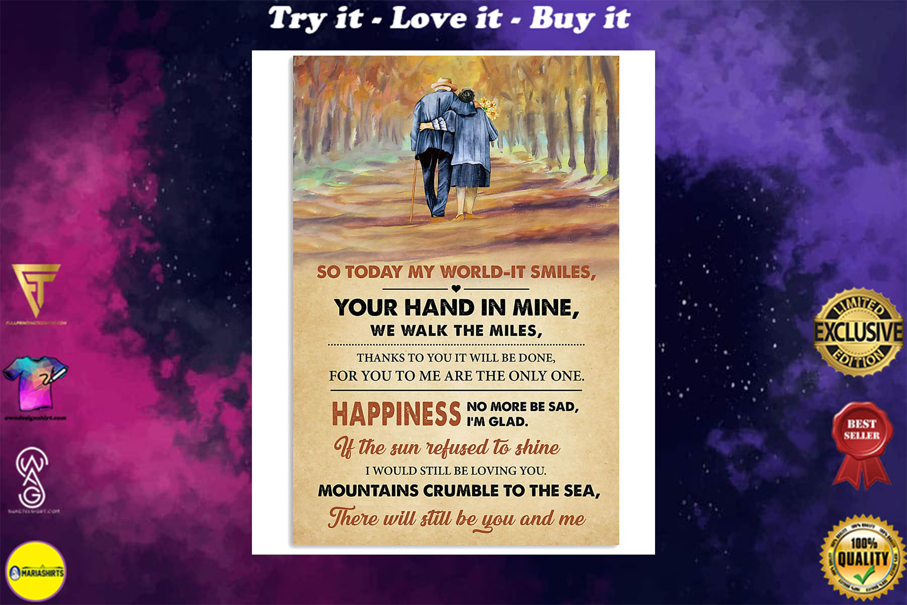 led zeppelin thank you lyrics couple in love poster