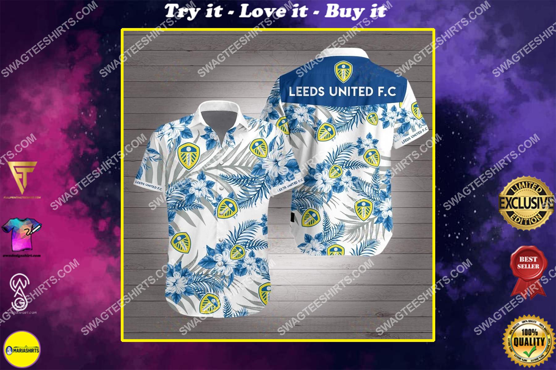 leeds united fc all over print hawaiian shirt