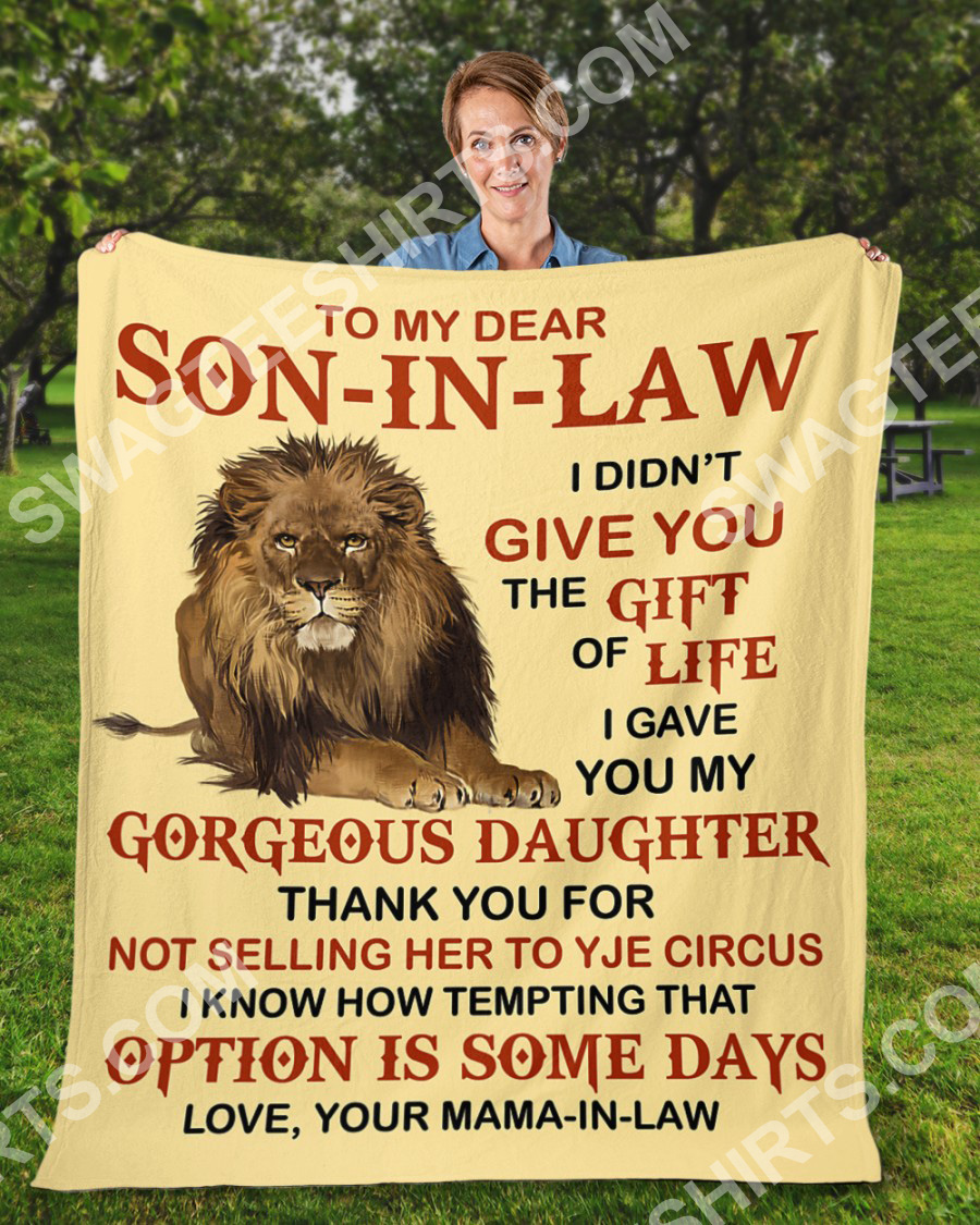 lion to my dear son-in-law love your mother-in-law blanket 2(1)