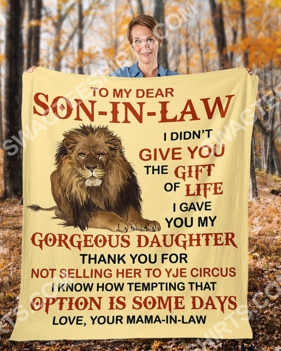 lion to my dear son-in-law love your mother-in-law blanket 3(1)