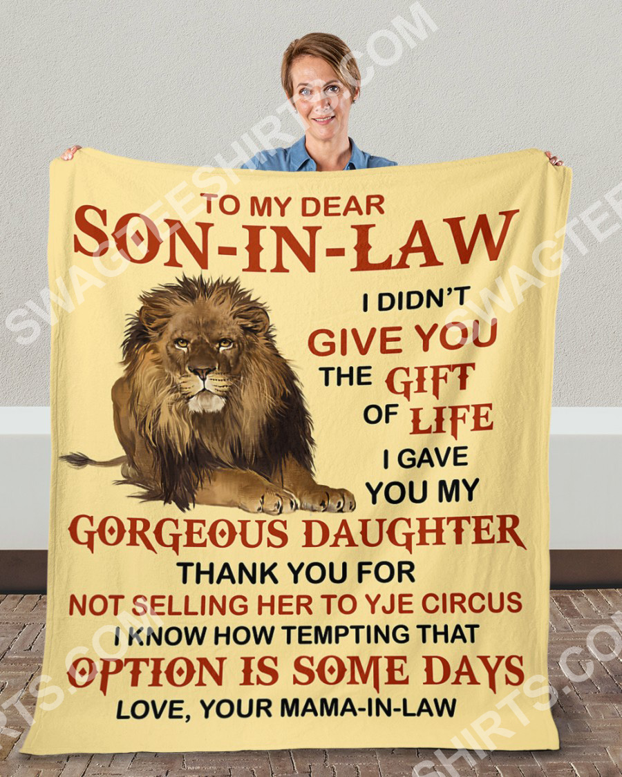lion to my dear son-in-law love your mother-in-law blanket 4(1)