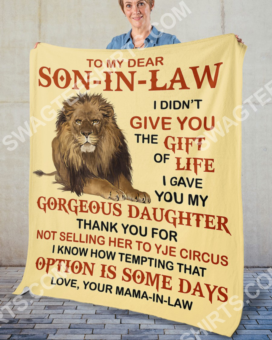 lion to my dear son-in-law love your mother-in-law blanket 5(1)