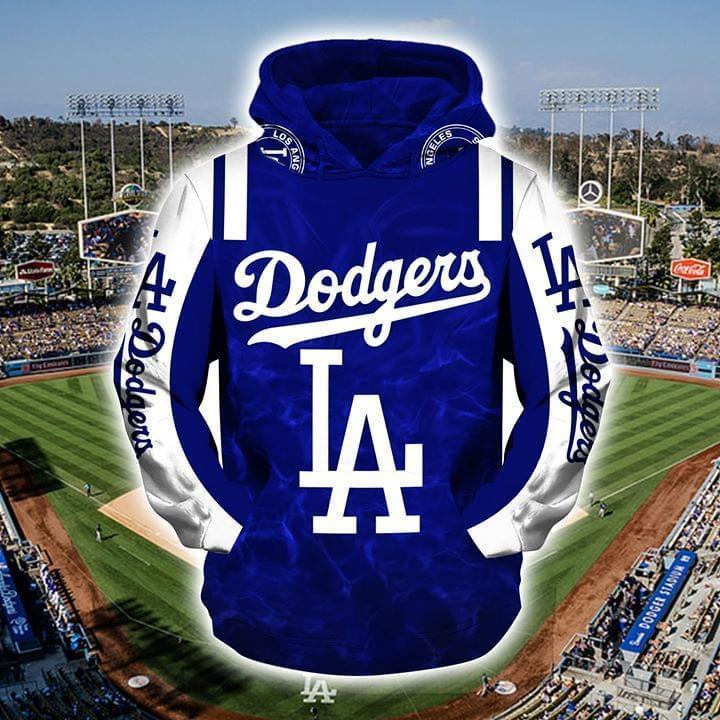 major league baseball los angeles dodgers full over printed hoodie 1