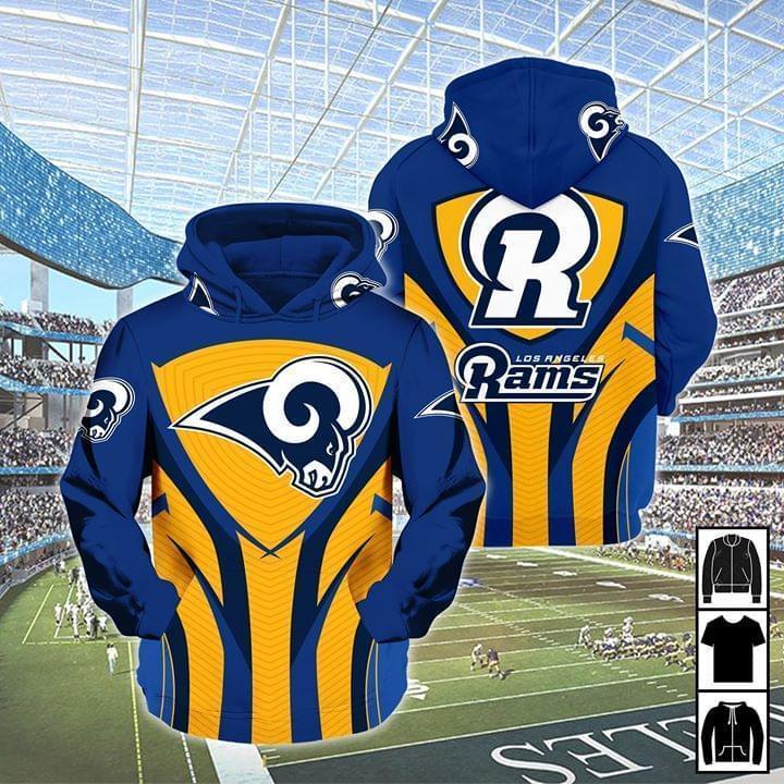mascot for rams los angeles rams football team full over printed hoodie 1