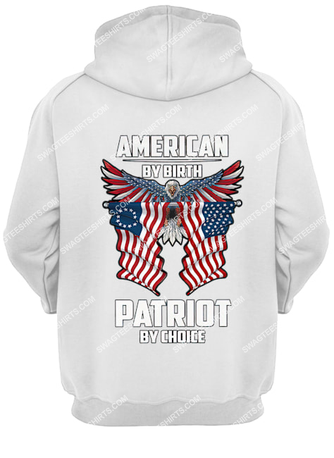 memorial day american by birth patriot by choice eagle hoodie 1