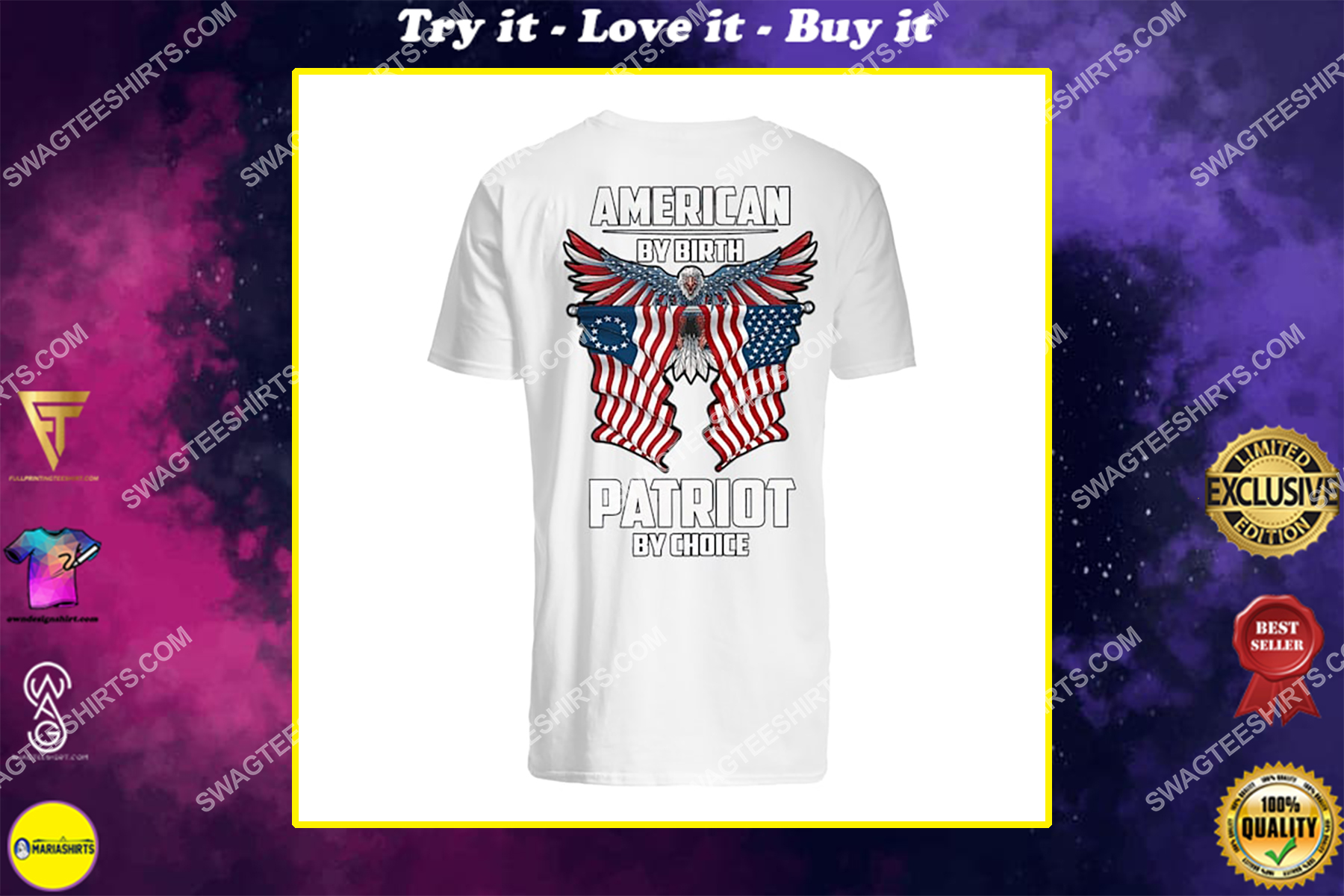 memorial day american by birth patriot by choice eagle shirt