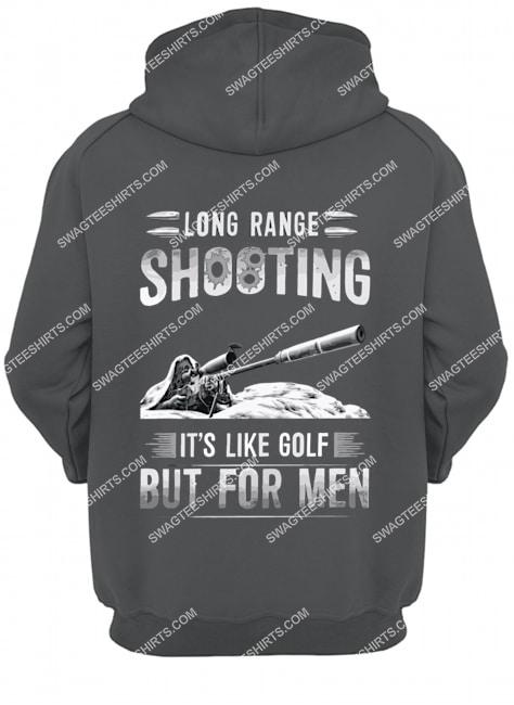 memorial day long range shooting it's like golf but for men hoodie 1